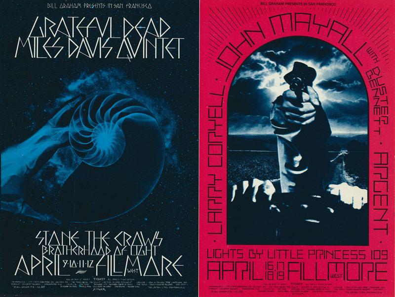 BG # 227/228 Grateful Dead Fillmore double postcard BG227/228