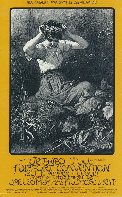 BG # 231 Jethro Tull Fillmore postcard - ad back BG231