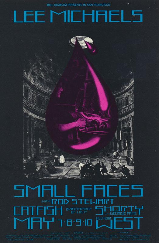 BG # 232 Lee Michaels Fillmore postcard - ad back BG232