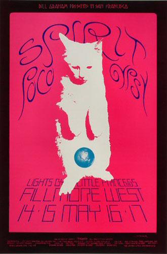 BG # 233-1 Spirit Fillmore Poster BG233
