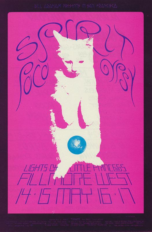 BG # 233 Spirit Fillmore postcard - ad back BG233