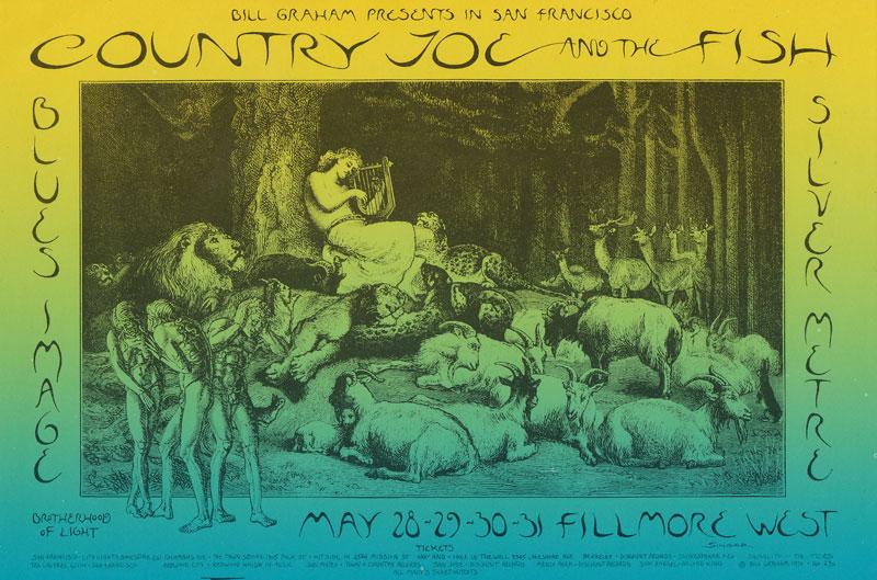 BG # 236 Country Joe and the Fish Fillmore postcard - ad back BG236