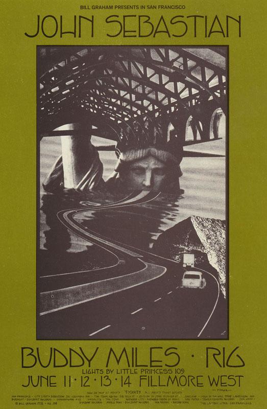 BG # 238 John Sebastian Fillmore postcard - ad back BG238