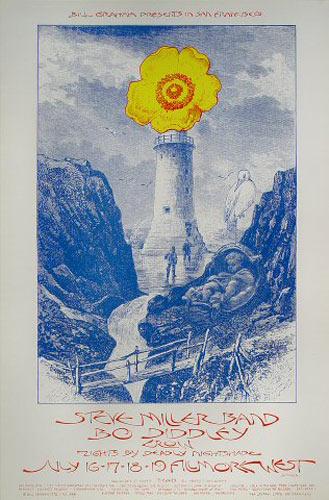 BG # 243-1 Steve Miller Band Fillmore Poster BG243