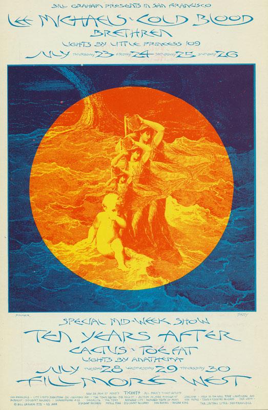 BG # 244 Lee Michaels Fillmore postcard - ad back BG244