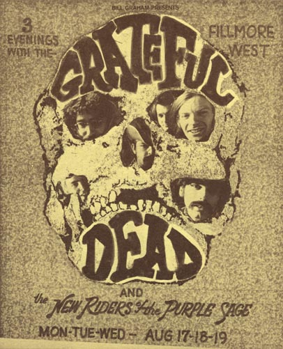 BG # 246A Grateful Dead Fillmore postcard - blank back BG246A