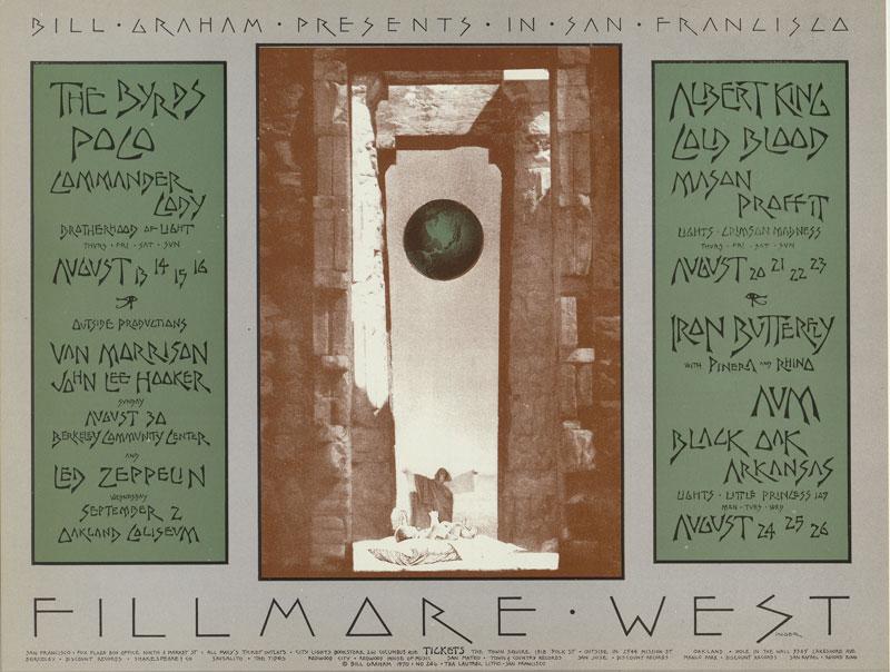 BG # 246 Byrds Fillmore postcard BG246