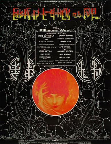 BG # 247-1 Iron Butterfly Fillmore Poster BG247