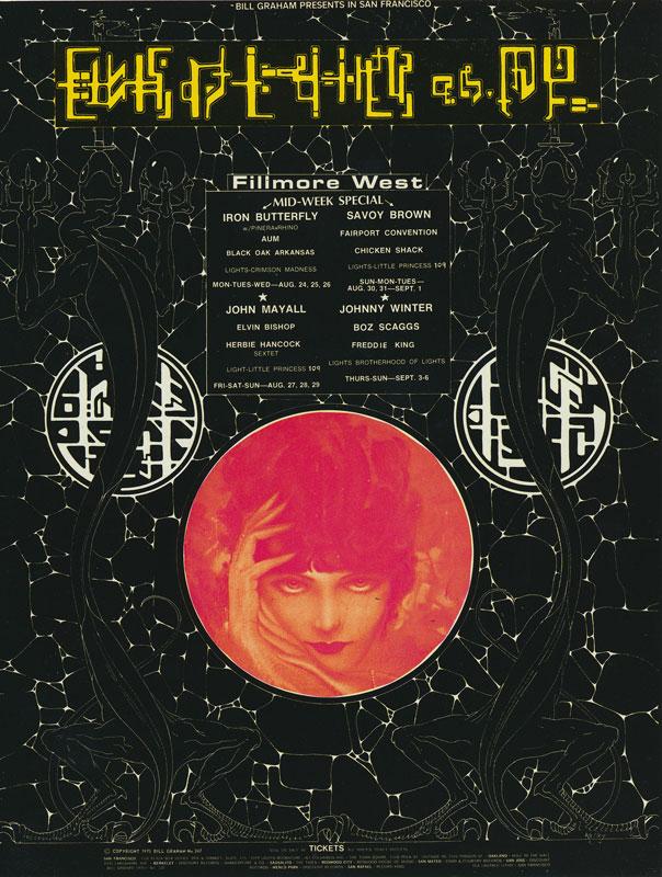 BG # 247 Iron Butterfly Fillmore postcard - blank back BG247