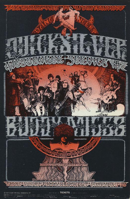 BG # 249-1 Quicksilver Messenger Service Fillmore Poster BG249