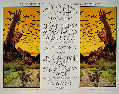 BG # 250-1 Chuck Berry Fillmore Poster BG250