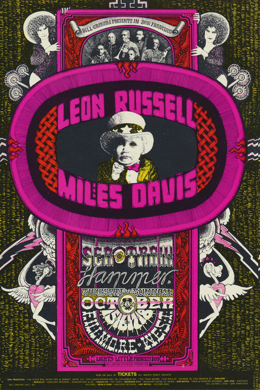 BG # 252 Leon Russell Fillmore postcard - ad back BG252
