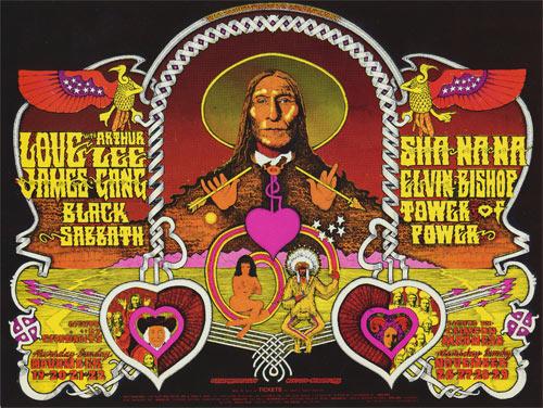 BG # 257 258 Love w/Arthur Lee Fillmore postcard - blank back BG257 258