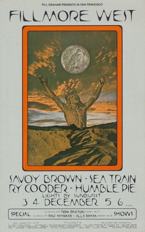 BG # 259 Savoy Brown Fillmore postcard - ad back BG259