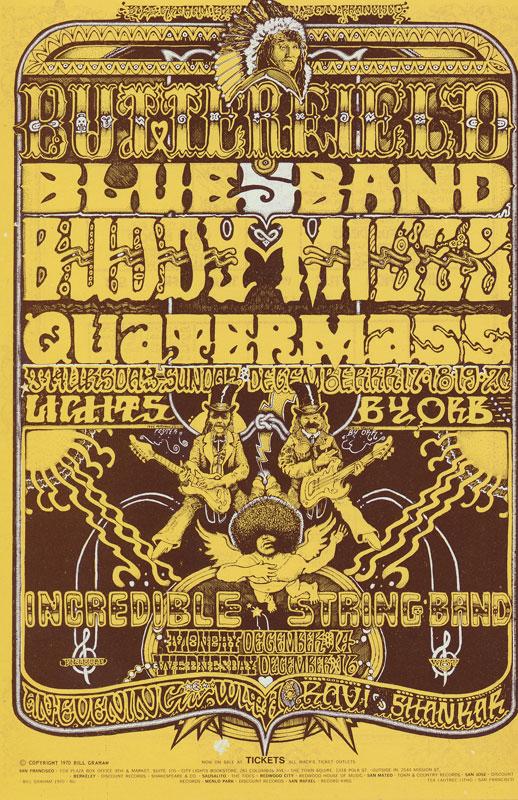 BG # 261 Butterfield Blues Band Fillmore postcard BG261