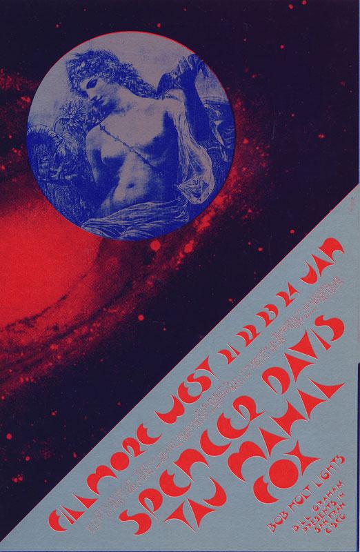 BG # 267 Spencer Davis Fillmore postcard BG267