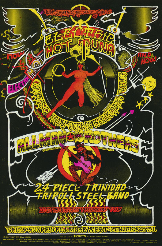 BG # 268-1 Hot Tuna-Jack Casady Jorma Kaukonen & Friends Fillmore Poster BG268