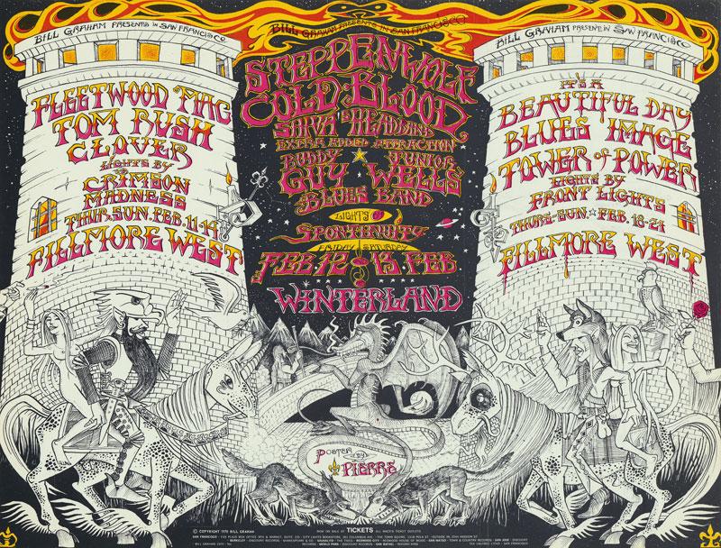 BG # 270 Fleetwood Mac Fillmore postcard - ad back BG270