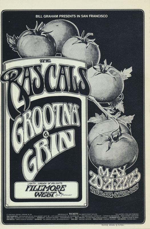 BG # 281 Rascals Fillmore postcard - ad back BG281
