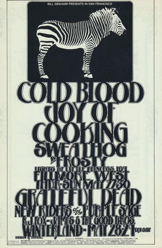 BG # 282-1 Cold Blood Fillmore Poster BG282