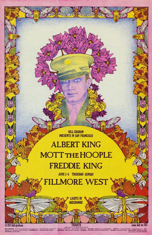 BG # 283 Albert King Fillmore postcard - ad back BG283