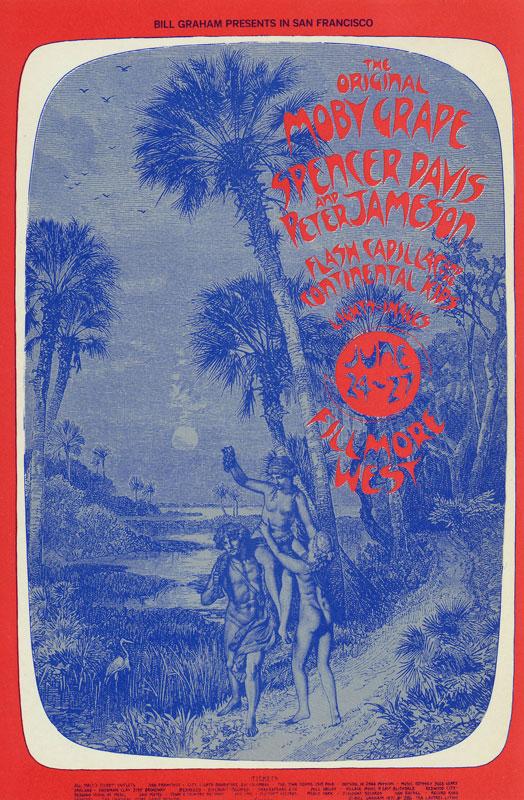 BG # 286 Moby Grape Fillmore postcard - ad back BG286