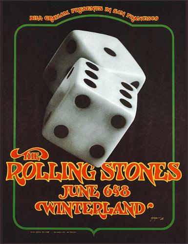 BG # 289-2 Rolling Stones Fillmore Poster BG289