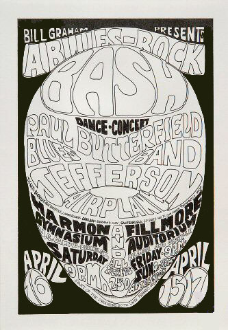 BG # 3 Paul Butterfield Blues Band Fillmore Handbill BG3