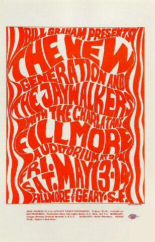 BG # 6 New Generation Fillmore Handbill BG6