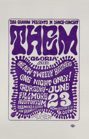 BG # 12 Them Fillmore Handbill BG12