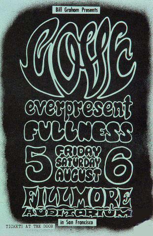 BG # 21 Love Fillmore Handbill BG21