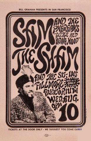 BG # 22 Sam the Sham & Pharaohs Fillmore Handbill BG22