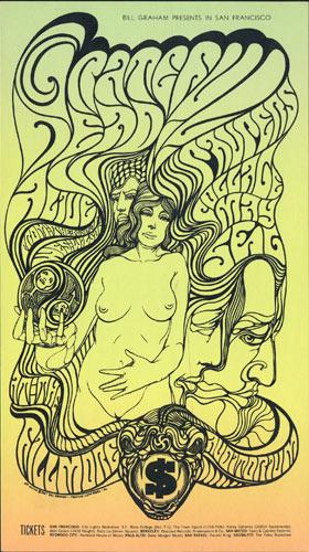BG # 62 Grateful Dead Fillmore postcard - bulk back BG62