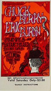 BG # 70 Chuck Berry Fillmore Saturday ticket BG70