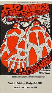 BG # 71 Bo Diddley Fillmore Friday ticket BG71