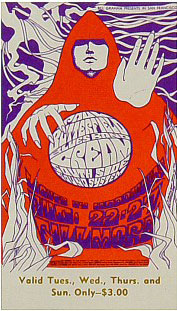 BG # 79 Paul Butterfield Blues Band Fillmore Tuesday - Sunday ticket BG79