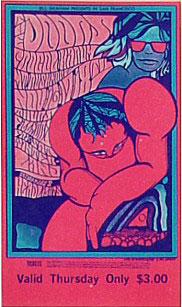 BG # 93 Doors Fillmore Thursday ticket BG93