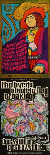 BG # 95/96 Blue Cheer Fillmore double postcard BG95/96