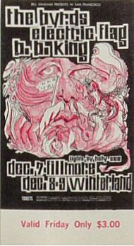 BG # 96 Byrds Fillmore Friday ticket BG96