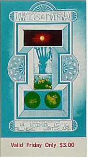 BG # 97 Tim Buckley Fillmore Friday ticket BG97