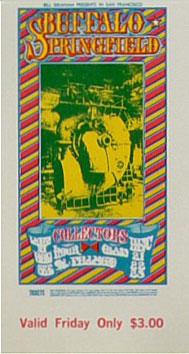 BG # 98 Buffalo Springfield Fillmore Friday ticket BG98