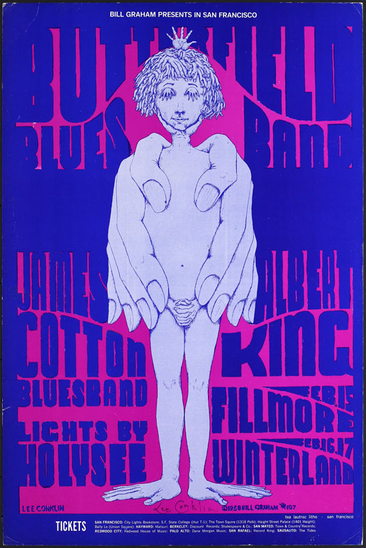 BG # 107-2 Butterfield Blues Band Fillmore Poster BG107