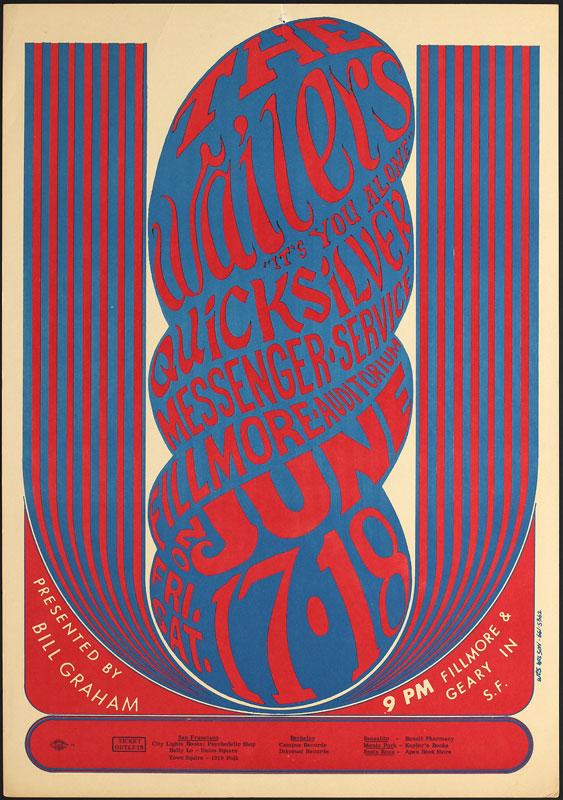 BG # 11-1 Wailers Fillmore Poster BG11