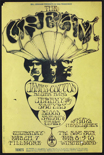 Image result for cream live at winterland 1968 posters