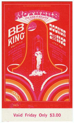 BG # 123 Mothers of Invention Fillmore Friday ticket BG123
