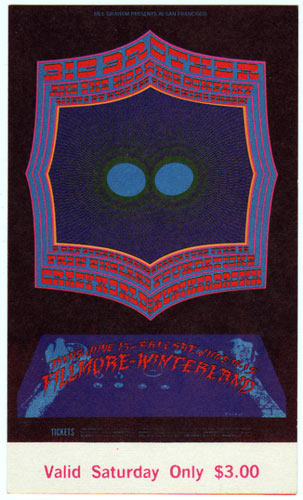 BG # 124 Big Brother & the Holding Co. Fillmore Saturday ticket BG124