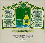 BG # 133 The Who Fillmore Friday - Sunday ticket BG133