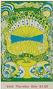 BG # 139 Canned Heat Fillmore Thursday ticket BG139