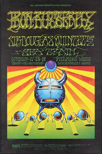 BG # 141-1 Iron Butterfly Fillmore Poster BG141