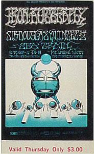BG # 141 Iron Butterfly Fillmore Thursday ticket BG141